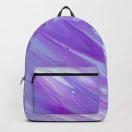 Purple Abstract Backpack