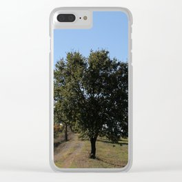 Tuscany Landscape Clear iPhone Case