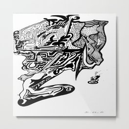 Un café à Trenelle 972 Metal Print