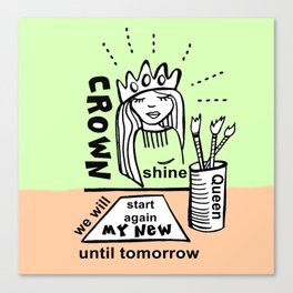 My New Crown - Zine Page Canvas Print