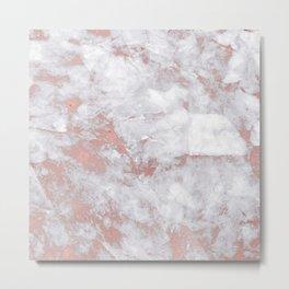 Marble Rose Gold - Lost Metal Print