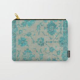 blue antique carpet Carry-All Pouch
