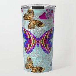 Fractal Butterfly Paradise Travel Mug