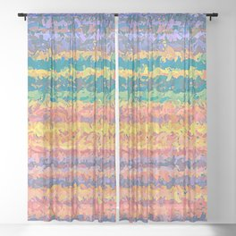 Colorful Pattern Sheer Curtain