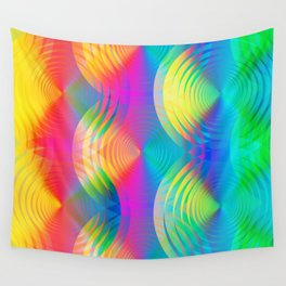colored rainbow pattern with spirals Wall Tapestry