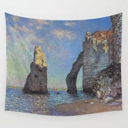 Claude Monet's The Cliffs at Etretat Wall Tapestry