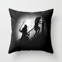 The Daywalker and the Nightstalker Throw Pillow