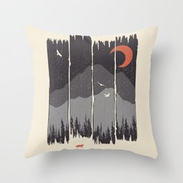 Winter Mountain Weather... Throw Pillow