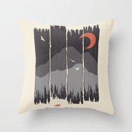Winter Mountain Weather... Throw Pillow