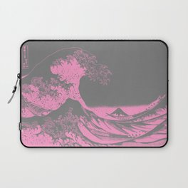 The Great Wave Pink & Gray Laptop Sleeve