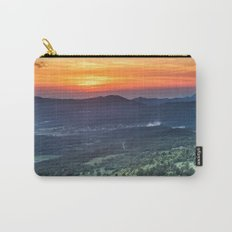 Beautiful sunset behind green fields Carry-All Pouch