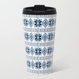 Retro Russian style ornament Travel Mug
