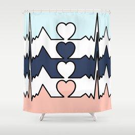 BIG HEART Shower Curtain