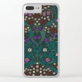 Blackthorn - William Morris Clear iPhone Case