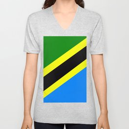Flag of Tanzania Unisex V-Neck