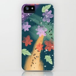 80's Floral iPhone Case