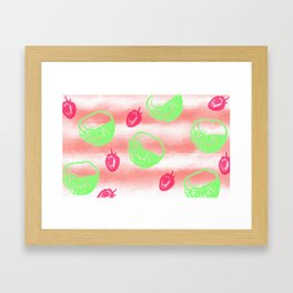 Berries and Coconuts Framed Art Print