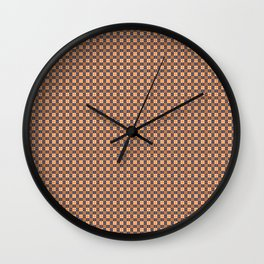 Brown Burgundy White Cell Wall Clock