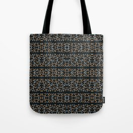 Floral Lace Stripes Print Pattern Tote Bag