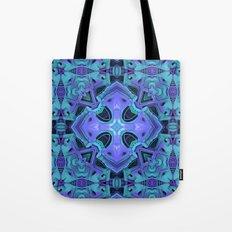 Aqua/Purple Mandala Tote Bag