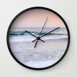 """Pink sunset"". Summer dreams.... Wall Clock"