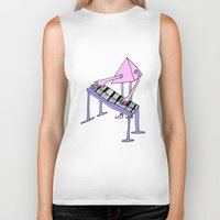 piano Biker Tanks featuring Piano by melanie johnsson