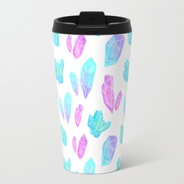Pastel Watercolor Crystals Travel Mug