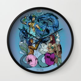 Neptunian Prince Kami no Ōwatatsumi Ryujin and His Maidens Wall Clock