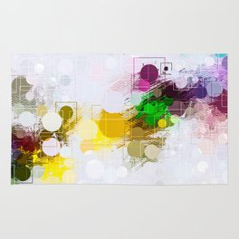 Happy Color Geometrical Pattern Abstract Rug
