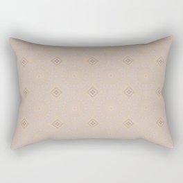 Golden Ornaments Pattern Rectangular Pillow