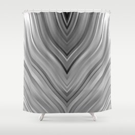 stripes wave pattern 3 bwgri Shower Curtain