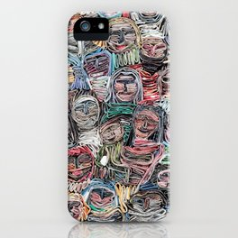 Gathered in April, Paper Collage iPhone Case