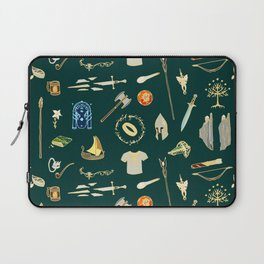 Lord of the pattern green Laptop Sleeve