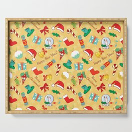 Christmas candy,bells and santa hat SB5 Serving Tray