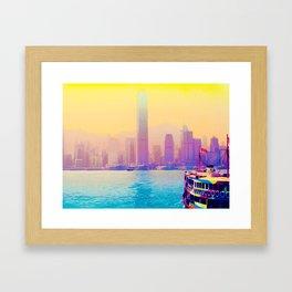 Hong Kong la vie en rose Framed Art Print