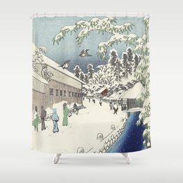 A walk with Hiroshige Shower Curtain