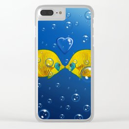 Fish love Clear iPhone Case
