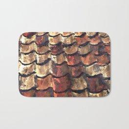 Terra Cotta Roof Tiles Bath Mat
