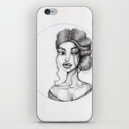 JennyMannoArt Graphite Drawing/Nora iPhone Skin