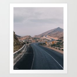 Way to the hills Art Print