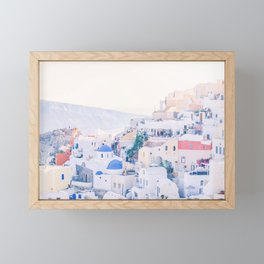 483. Oia Skyline, Santorini, Greece Framed Mini Art Print