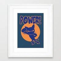 power Framed Art Prints featuring Power! by BATKEI