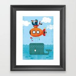 Whale Ahoy Framed Art Print