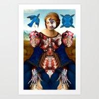madonna Art Prints featuring Madonna by DIVIDUS