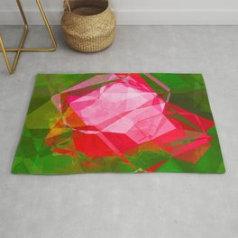 Pink Roses in Anzures 4 Abstract Polygons 1 Rug