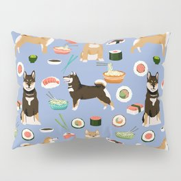 Shiba Inu noodles pho food cute dog art sushi dogs pet portrait pattern Pillow Sham
