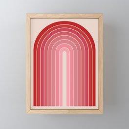 Gradient Arch - Pink / Red Tones Framed Mini Art Print
