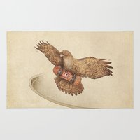hawk Area & Throw Rugs featuring Hawk by Terry Fan