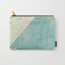 Nevada State Map Blue Vintage Carry-All Pouch