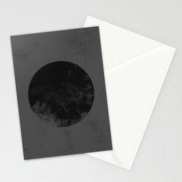 Black Japan Flag Stationery Cards